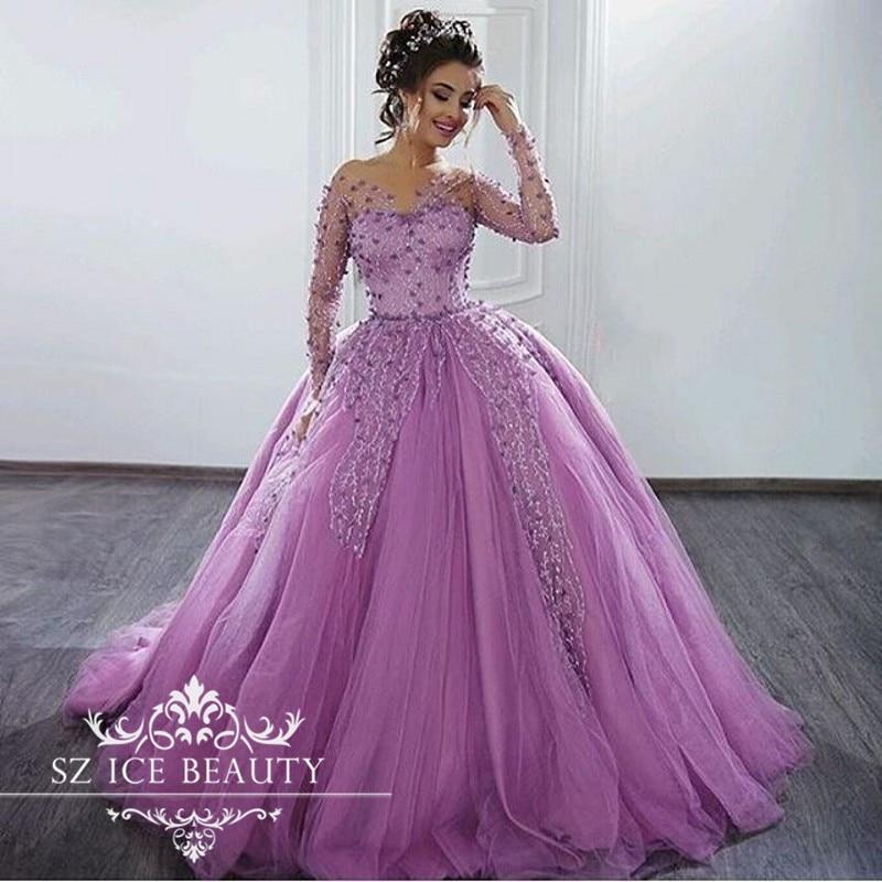 Asombroso Vestidos De Dama Mangas Largas Regalo - Vestido de Novia ...