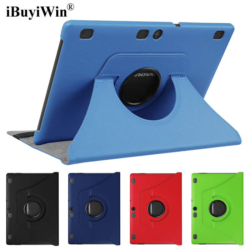 iBuyiWin <font><b>360</b></font> Rotating Folding Stand Flip Cover Case for Lenovo Tab 2 A10-70 A10-70L A10-70F <font><b>10.1</b></font> inch Tablet Funda Capa+Film+Pen image
