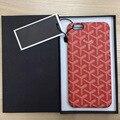 Французской Роскоши Goyar Красочные Кожа Case cover Для iPhone 7 7 Plus 6 6 S 6 Плюс Очень хороший Телефон case