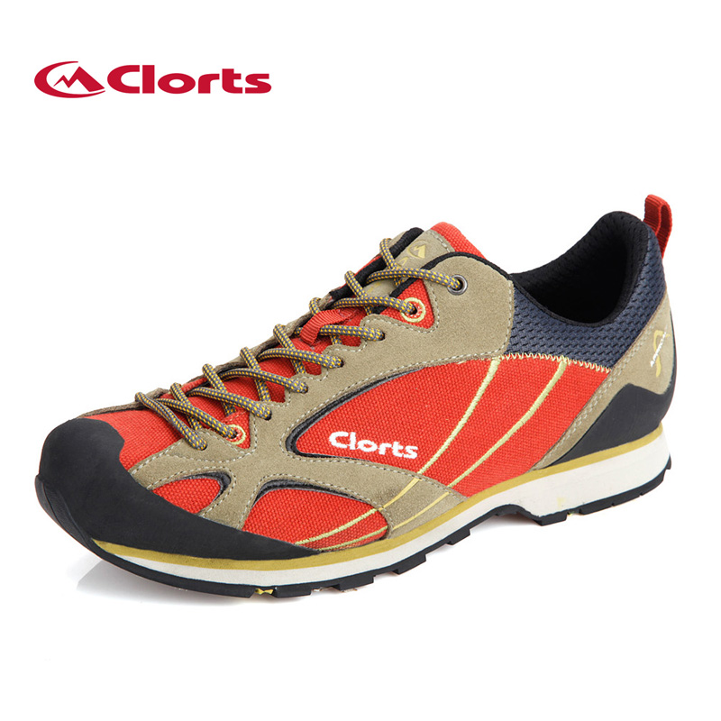 ФОТО Clorts Men Low-Cut Hiking Shoes Non-Slip Trekking Shoes Suede Leather Outdoor Shoes Approach Shoes 3E003A/B