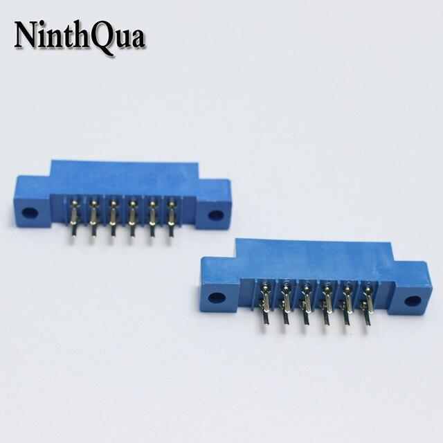 30 قطعة/الوحدة 805 بطاقة حافة موصل 3.96 ملليمتر الملعب 2x6 صف 12 دبوس PCB فتحة اللحيم المقبس SP12 تراجع لحام كتلة نوع