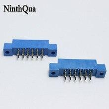 30pcs/Lot 805 Card Edge Connector 3.96mm Pitch 2x6 Row 12 Pin PCB Slot Solder Socket SP12 Dip Soldering Block Type