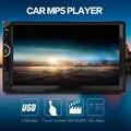 7 polegada Multimídia Double Din 12 V Carro MP5 Player Suporte a Bluetooth Rádio com USB AUX IN Slot Para Cartão SD 7001 2 Din Carro MP5 jogador