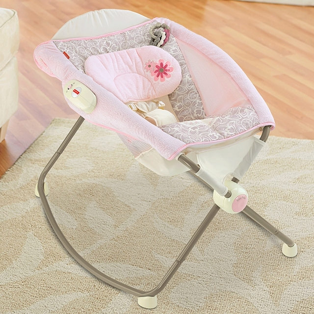 new arrival portable baby bed folding crib novelty vibrations baby cradles infant baby rocking chair