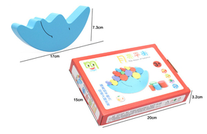 Image 4 - Moon Balance Game Baby Early Learning Toy For Children Wooden Toys Balancing  Colorful Blocks Baby Educational Toys