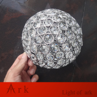 dia 15cm chrome crystal ball lamp shade