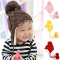 Top baby hats warm winter knitted hats for newborn baby boys girls photography props accessories bonnet enfant toddler hat sale