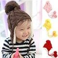 Top bebé sombreros calientes del invierno hicieron punto los sombreros para el bebé recién nacido niño niña fotografía atrezzo accesorios capó enfant niño sombrero venta