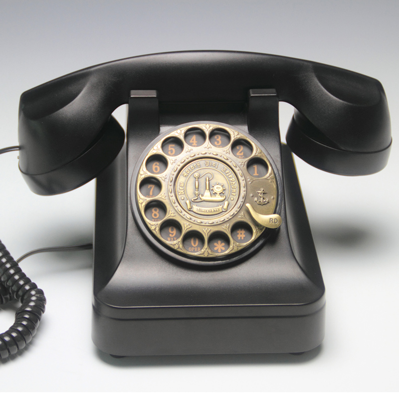 European style retro rotary dial antique antique telephone landline an old fashioned telephone Decoration home art rustic phone