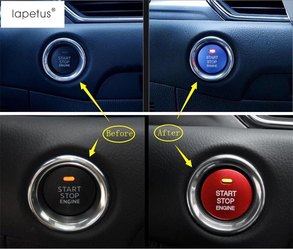 Aluminum Keyless Engine Push Start Button Engine Push Start Button Decoration Trim Ford Mustang 2015 2106 2017