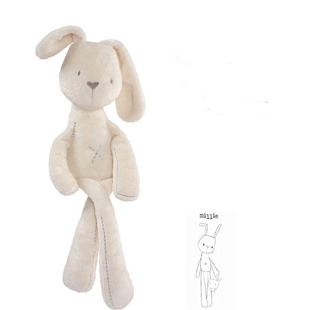 54CM Cute Rabbit Doll Baby Soft Plush Toys For Children Bunny Sleeping Mate Stuffed &Plush Animal Baby Toys For Infants