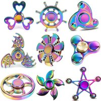 Fidget Spinner Tri Spinner Colorful Five Beeds Star Bat Heart Triangle Wheel Fly Dragon Metal Hand