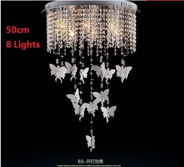 Online Shop Creative Angel Butterfly Crystal Ceiling Lights Modern - Butterfly lights for bedroom