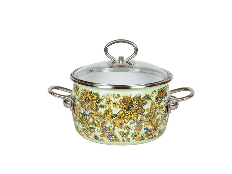 Pan VITROSS, Imperio, 3 L, with glass cover, light green pan vitross fruits 3 l with glass cover