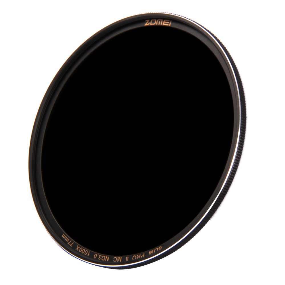 Filtro nd8/nd64/nd1000 (3.0) multi-revestido 49/52/55/58/62/67/72/77/82mm câmara de densidade neutra fina de vidro óptico de zomei