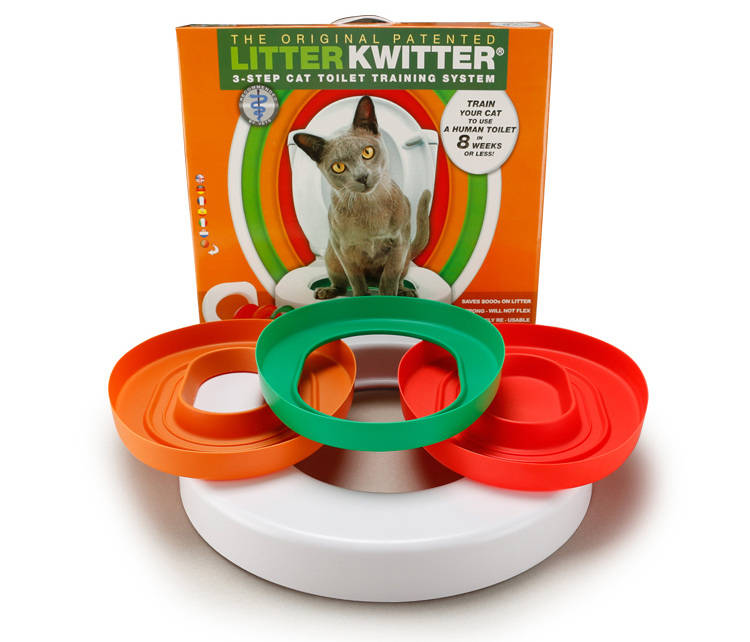 Cat Toilet Training kit Professional Train Love Clean Cats Use Human Toilet Easy to Learn Litter lavatory box gift