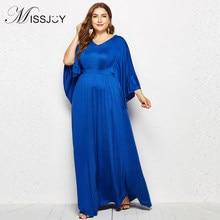 MISSJOY 2018 abaya islamic clothing batwing Sleeve V Neck Women Muslim  Fashion Evening Party Long Maxi dress Plus Size 4XL robes 429e17b7ddca