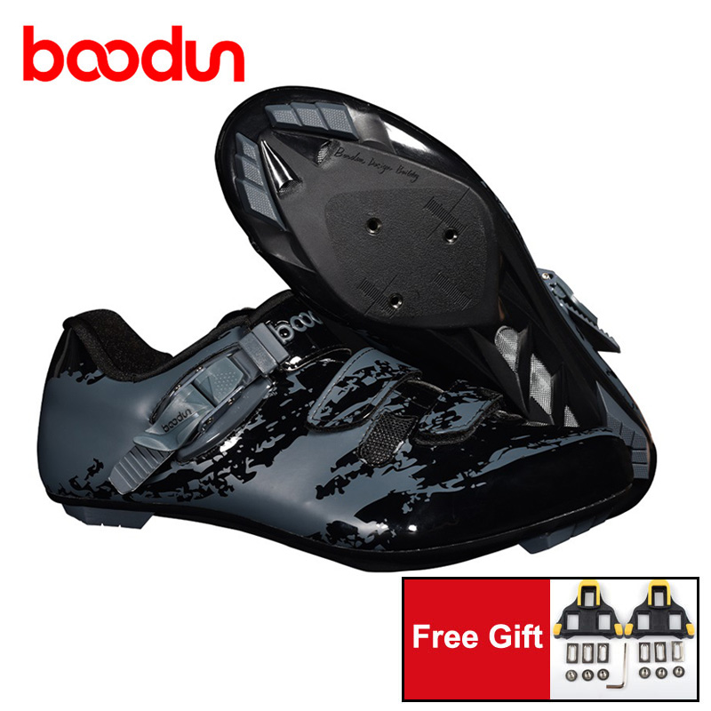 BOODUN Road Cycling Shoes size 39 45 Self Locking Bicycle Riding Sneakers for Boys Men Bike