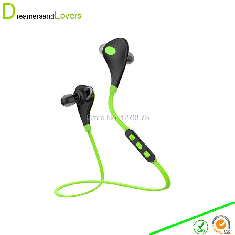 4.1 Wireless Earphones The Best Bluetooth Earphones With Mic IOS Android Smartphone for Exercise Running Fitness Sports Green