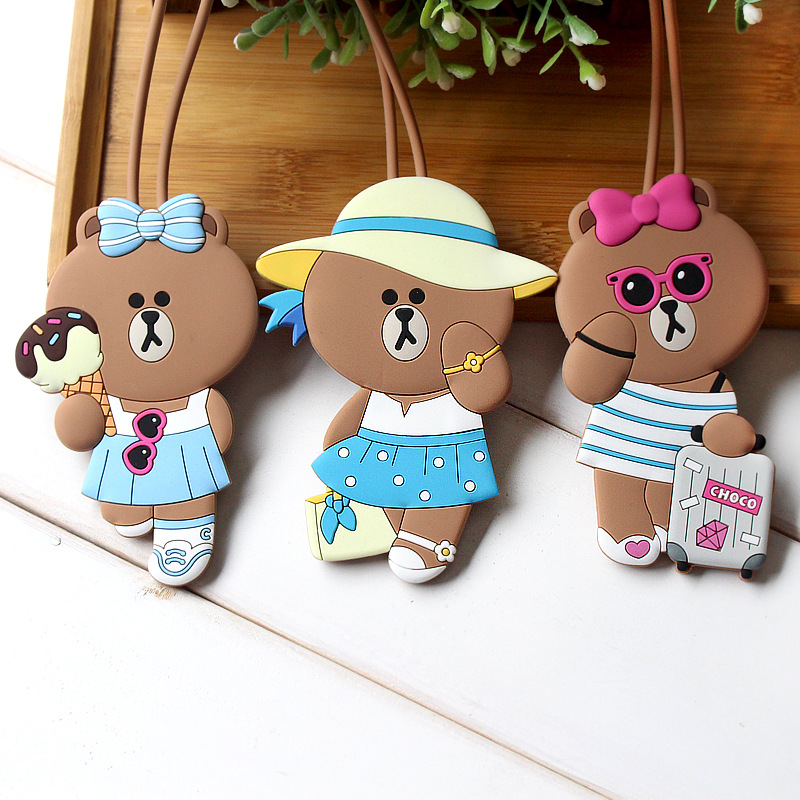 2019 New Kawaii Suitcase Luggage Tags Cartoon ID Address Holder Baggage Label Silica Ge Identifier Travel Accessories For Women