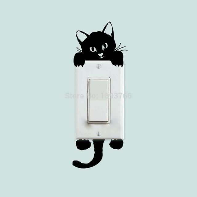 Diy funny cute cat dog switch stic