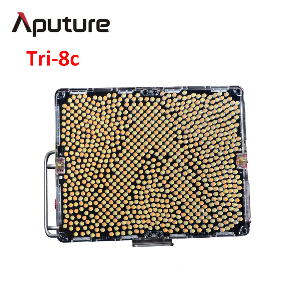 Aputure Amaran Tri-8c LED Vidéo Lumière 2300 k-6800 K Température de Couleur Avec 2 pcs NP F970 Batterie Facile boîte V montage