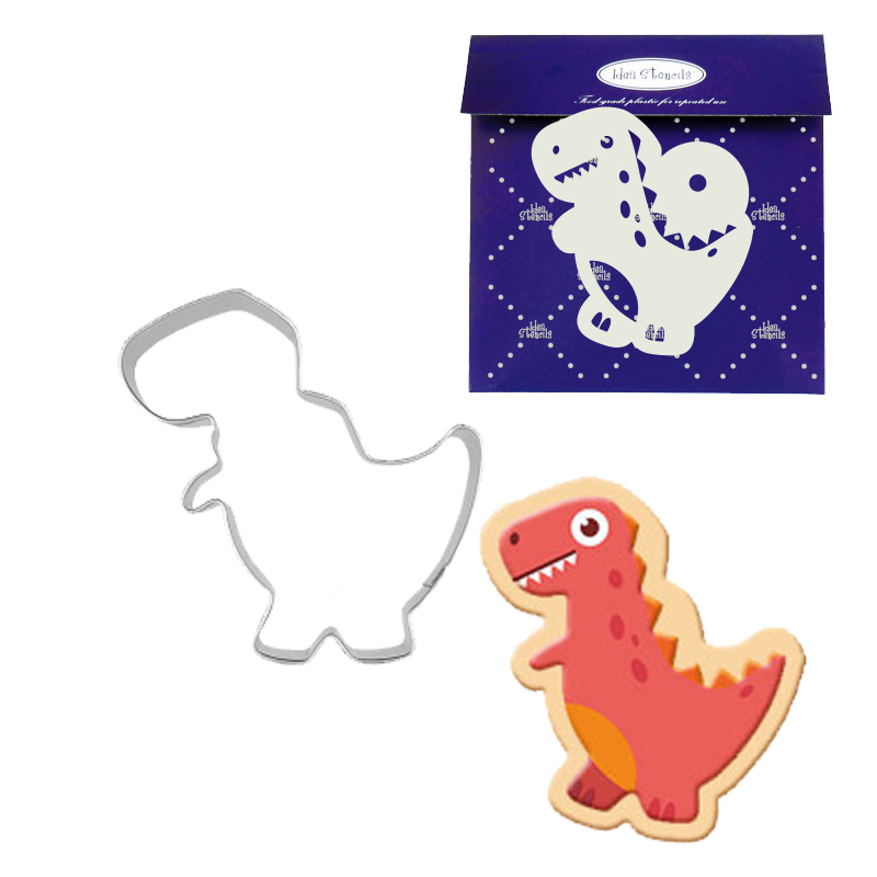 Dinosaur C Stainless Steel Cookies Cutters Cake Baking Biscuit DIY Mould Mold ~