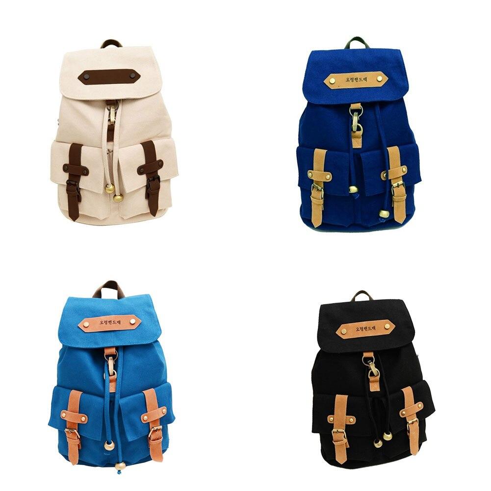 New Korea Vintage Canvas Backpack Girl Women Shoulder School Satchel Bag Rucksack Backpack 88 LBY2017