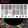 Envío Gratis 1 Venta Caliente Hoja de Contratado Stripes Diseño Nail Art Stamping Placas