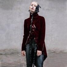DEVIL FASHION Palace restoring ancient ways punk gothic women dovetail outerwear coat witer Dust coat