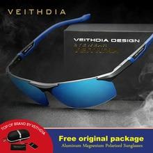 Солнцезащитные очки Veithdia, алюминиево-магниевые, поляризационные, для мужчин, с зеркальным покрытием, для вождения, солнцезащитные очки, oculos, мужские очки, аксессуары, оттенки