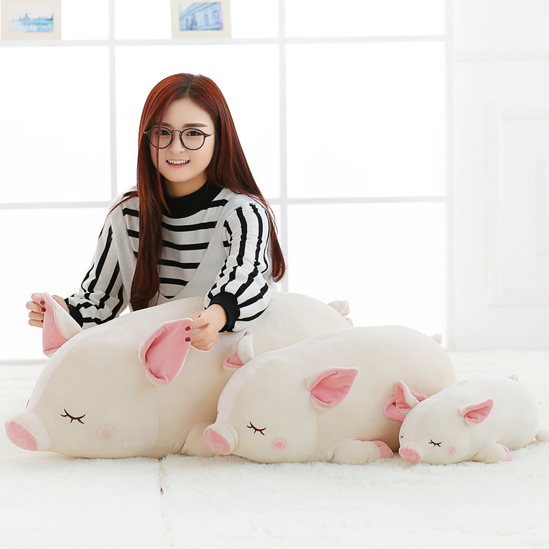 1pcs 40/60cm Cute Animal Soft Pillow Pig Plush Toy Stuff Doll Winter Hand Warm Gifts For Children Bedroom