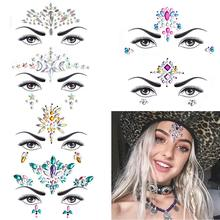 цена на METABLE 6 Sets Mermaid Face Gems Glitter,Rhinestone Rave Festival Face Jewels,Crystals Face Stickers, Eyes Face Body Temporary