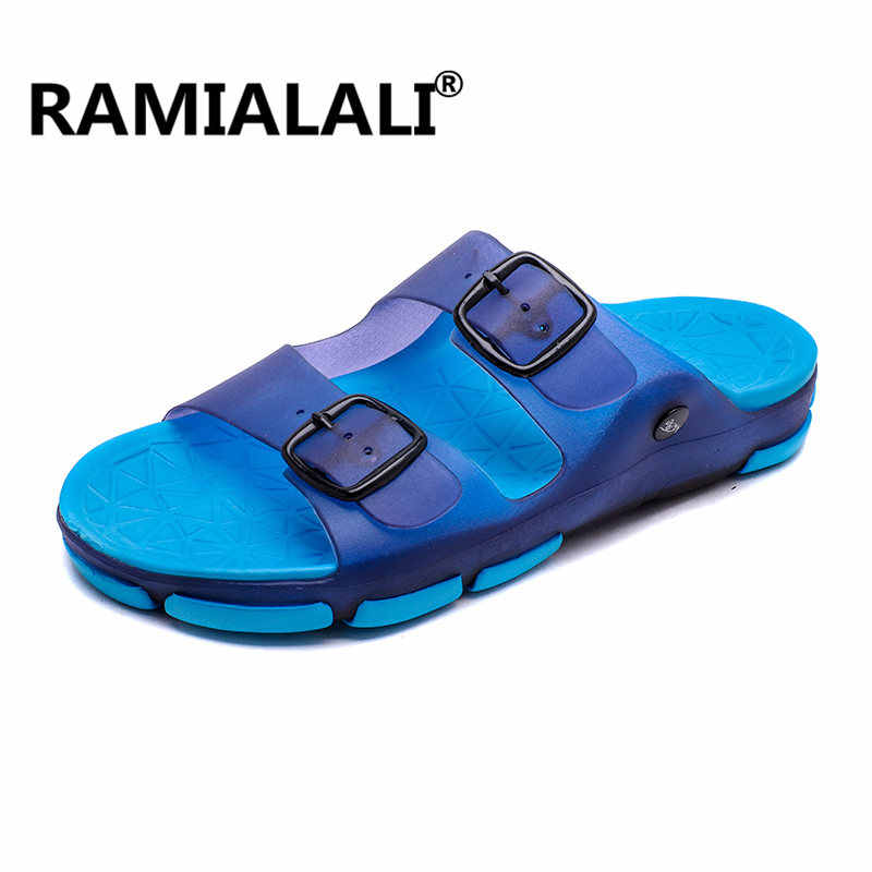 026bfc085882d5 Ramialali Mens Flip Flops 2019 Summer Men s New Style Soft Sides Shoes  Outdoor Beach Men s Slippers