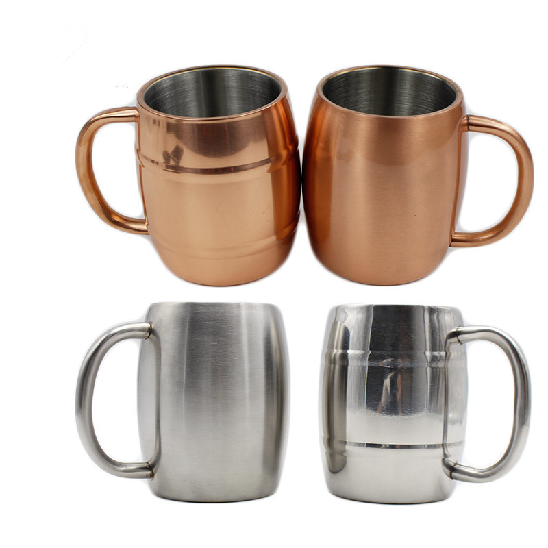 20pcs 16oz Copper Beer Mug Insulated Stainless Steel Double Wall Coffee mugs Keeps Beer Ice Cold