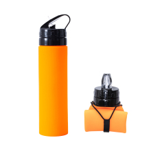 050 Fashion Silicone collapsible cup kettle outdoor exercise, fitness travel, portable mountaineering water bottle 6.5*23cm