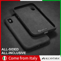 SanCore iPhone X XS max phone Case Leather full protection ALCANTARA Business full cover leather luxury cellphone shell suede
