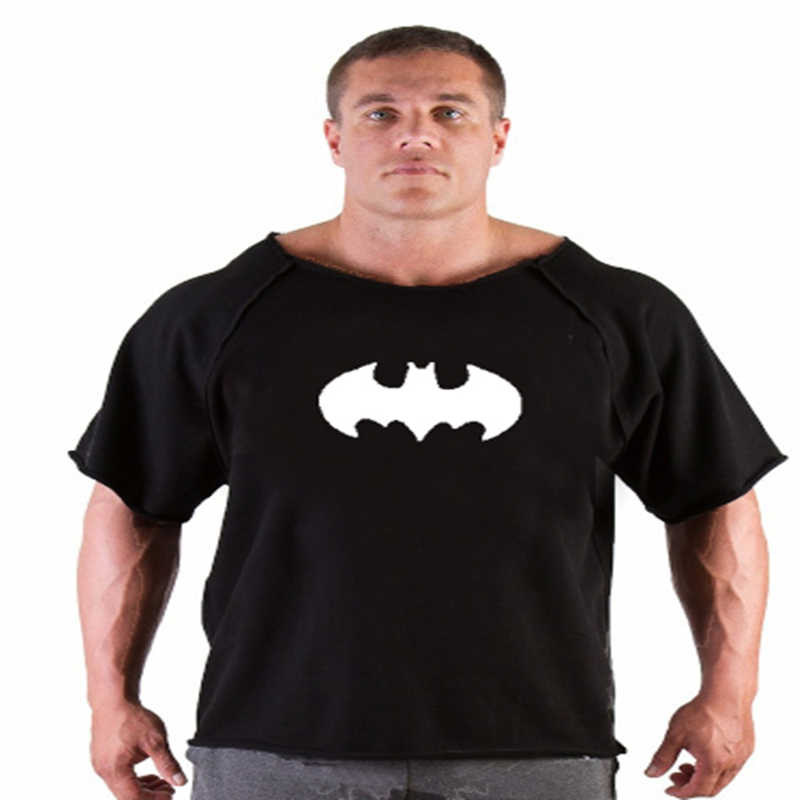 2018 новые брендовые футболки мужские Золото фитнес мужские Бодибилдинг футболки Gorilla рубашка рукав летучая мышь Rag Топы