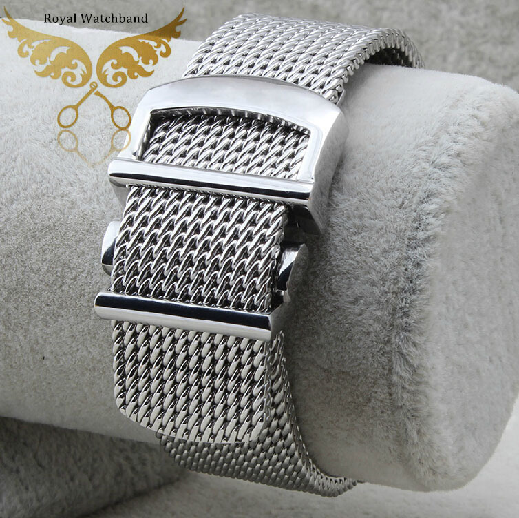 2014 New Arrival 20mm Size Silver Mesh Stainless Steel Watch Band Strap Security Depolyment Buckle Clasp Free Shipping дрель шуруповерт prorab 2055 p 2