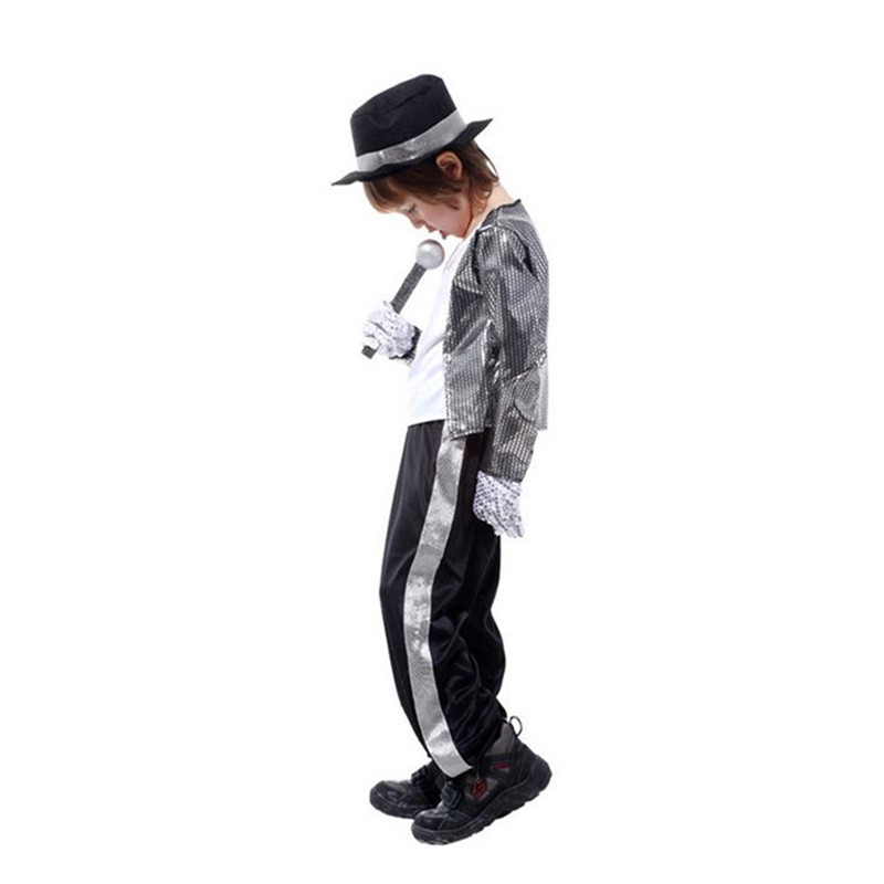 Halloween Michael Jackson Cosplay Costume Superstar Singer Dance Suits Christmas New Year Party Dress