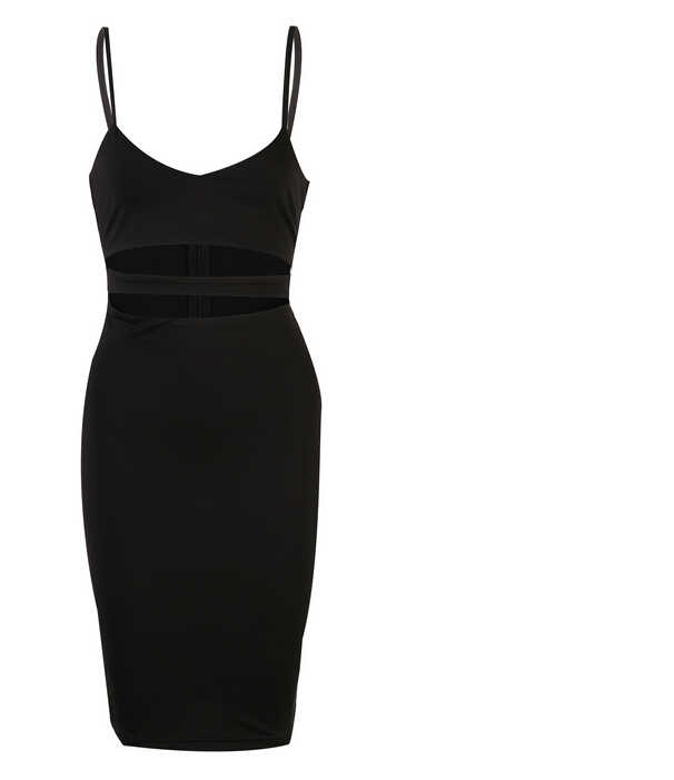 Sexy femmes sangle évider solide noir robes col en V été dames Bandage moulante fête Skinny crayon robe blanc vert