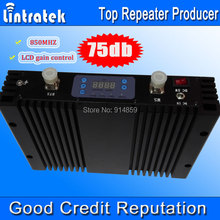 75dbi Gain Repetidor 850MHz Cell Phone Booster With LCD Display CDMA Mobile Signal Repeater 850mhz GSM 850 Signal Amplifier*