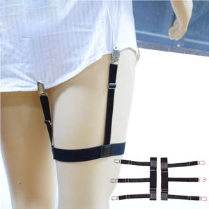 Pair Men's Shirt Stays Holders Elastic Garter Belt Suspender Adjustable Shirt Holders Crease-Resistance Stirrup Style 2 Style