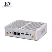 2017 безвентиляторный HTPC Celeron N3050 двухъядерный/Celeron N3150 Quad Core Mini PC HDMI Dual LAN WI-FI Linux PC NC690