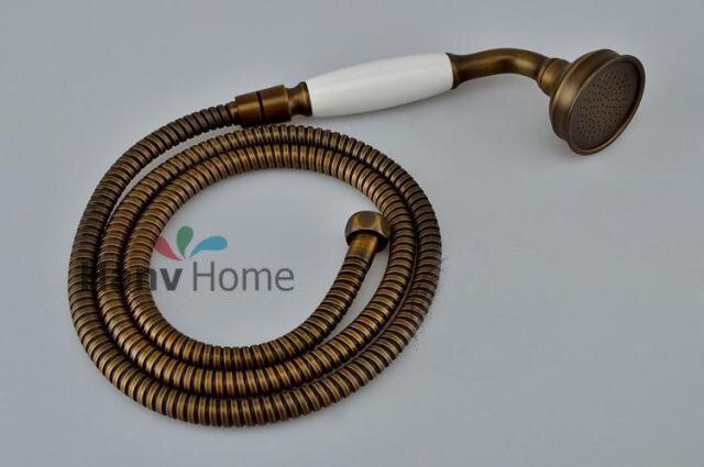 Antique Ceramic U0026 Brass Classical Telephone Hand Held Shower Head U0026 150cm  Hose Bathroom Replacement Copper