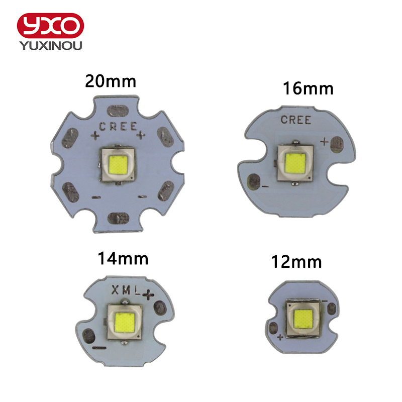1 PCS CREE XML2 LED XM-L2 T6 U2 10W WHITE Neutral White Warm White High Power LED Emitter with 12mm 14mm 16mm 20mm PCB for DIY