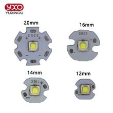 XM L2 LED CREE XML2 T6 U2, 10W, blanco neutro, Blanco cálido, emisor de alta potencia, 12mm, 14mm, 16mm, 20mm, PCB para bricolaje, 1 Uds.