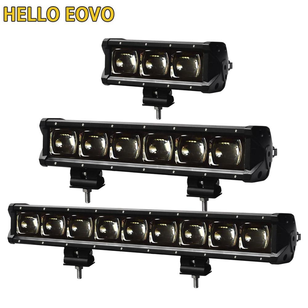 8 - 53 inch LED Bar 6D Lens Single Row Led Light Bar for 4x4 Offroad Off road 4WD Truck ATV 12V 24V Trailer Work Lights