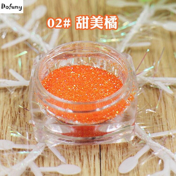 Orange Nagel Glitter Pulver Staub 3d Nail Art Uv Glitter Pulver Nagel Toe Kunst Dekorationen #02 Sparsam 1/128 2 Gramm/stück In Verschiedenen AusfüHrungen Und Spezifikationen FüR Ihre Auswahl ErhäLtlich 0,2mm