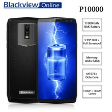 Blackview P10000 Pro MT6763 Octa Core 4GB+64GB 5.99″ FHD + Full Screen Dual SIM Smartphone 11000mAh Battery 13.0MP+16.0MP Camera